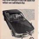 1966 1967 BMW 2000 SPORTS COUPE VINTAGE CAR AD