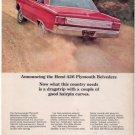 1966 1967 PLYMOUTH BELVEDERE VINTAGE CAR AD 426 HEMI