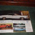 1967 DODGE CORONET R/T FORD FAIRLANE FALCON CAR AD