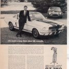 1966 1967 FORD MUSTANG SHELBY GT 350 GT350 CAR AD