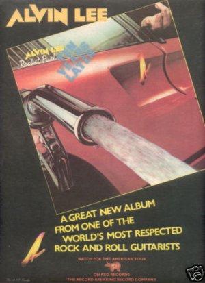 ALVIN LEE ROCKET FUEL POSTER TYPE AD 1978