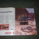 1985 1986 FORD RANGER 4X4 TRUCK AD 2-PAGE
