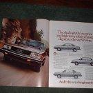 1982 1982 AUDI 4000 CAR AD 2-PAGE