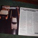 1982 1983 SAAB CAR AD 2-PAGE