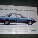 1982 1983 HONDA ACCORD 4 DOOR SEDAN CAR AD 2-PAGE