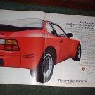 1983 PORSCHE 944 CAR AD 3-PAGE