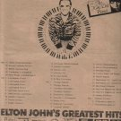 * 1974 ELTON JOHN POSTER TYPE TOUR AD WITH DATES