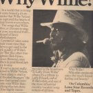 * 1977 WILLIE NELSON POSTER TYPE AD