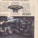 * 1977 JENSEN CAR SPEAKERS FULL LINE POSTER TYPE AD
