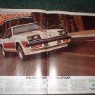 1980 CHEVY MONZA SPYDER CAR AD