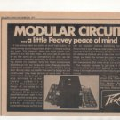 1973 PEAVEY AMPLIFIER AD MODULAR CIRCUITS