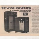 1974 PEAVEY 215HT 115HT VOCAL PROJECTOR SYSTEM AD