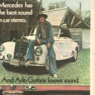 1975 ARLO GUTHRIE CRAIG STEREO POWERPLAY POSTER TYPE AD