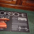 1976 1977 PORSCHE 924 VINTAGE CAR AD 2-PAGE