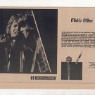 MICK JAGGER THE ROLLING STONES SHURE MIC PROMO AD 1974