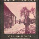 PINK FLOYD DAVID GILMOUR LP PROMO AD 1978 VERY NICE AD