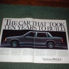 1983 1984 VOLVO 760 GLE CAR AD 2-PAGE