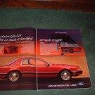 1983 FORD THUNDERBIRD CAR AD 2-PAGE