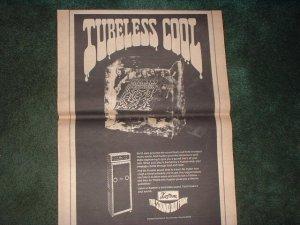 * 1970 KUSTOM AMP AMPLIFIER  POSTER TYPE  PROMO AD