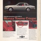 1975 CHEVY MONZA TOWNE COUPE VINTAGE CAR AD