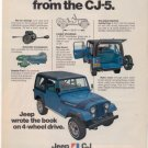 1975 1976 JEEP CJ-7 VINTAGE CAR AD