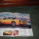 1979 CHEVY CAMARO Z28 Z 28 VINTAGE CAR AD 2-PAGE