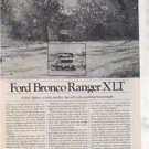 1980 FORD BRONCO RANGER XLT ROAD TEST AD 5-PAGE