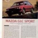 1980 1981 MAZDA GLC SPORT ROAD TEST AD 4-PAGE