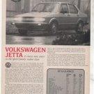 1980 1981 VOLKSWAGEN JETTA ROAD TEST AD 4-PAGE