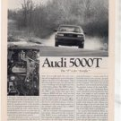 1980 1981 AUDI 5000T 5000 T ROAD TEST AD 5-PAGE