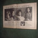1970 THE GOLDEN EARRING EIGHT MILES HIGH POSTER TYPE AD