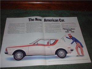 1970 1971 GREMLIN VINTAGE CAR AD 2-PAGE