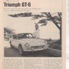 1967 1968 TRIUMPH GT6 GT-6 ROAD TEST AD 6-PAGE