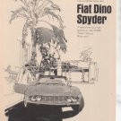 1967 1968 FIAT DINO SPYDER ROAD TEST AD 4-PAGE