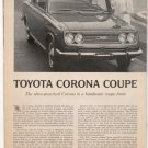 1967 1968 TOYOTA CORONA COUPE ROAD TEST AD 4-PG