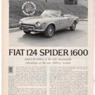 1971 1972 FIAT 124 SPIDER 1600 ROAD TEST AD 4-PAGE