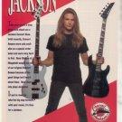 * 1993 MEGADETH CHARVEL JACKSON GUITAR AD