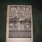 1970 CANNED HEAT FUTURE BLUES POSTER TYPE AD