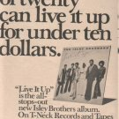 * 1974 ISLEY BROTHERS POSTER TYPE AD