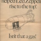 1970 LED ZEPPELIN JIMMY PAGE POSTER TYPE AD RARE