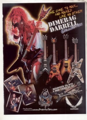 * DIMEBAG DARRELL PANTERA GUITAR AD