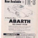 1960 TRIUMPH TR3 TR 3 ABARTH VINTAGE CAR AD