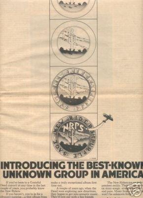 NEW RIDERS OF THE PURPLE SAGE PROMO AD 1971