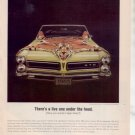 1965 1966 PONTIAC GTO VINTAGE CAR AD