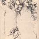 JANIS JOPLIN POSTER TYPE PROMO AD RARE 1975