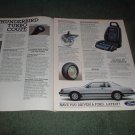 1983 1984 FORD THUNDERBIRD TURBO COUPE AD 3-PAGE