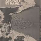* 1976 CHICAGO X POSTER TYPE AD
