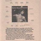 * 1977 HERBIE HANCOCK POSTER TYPE AD