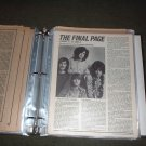 LED ZEPPELIN SCRAPBOOK PHOTO ALBUM PROMO ADS POSTERS ARTICLES,WRITE UPS.