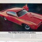 1969 1970 PONTIAC GTO THE JUDGE VINTAGE CAR AD